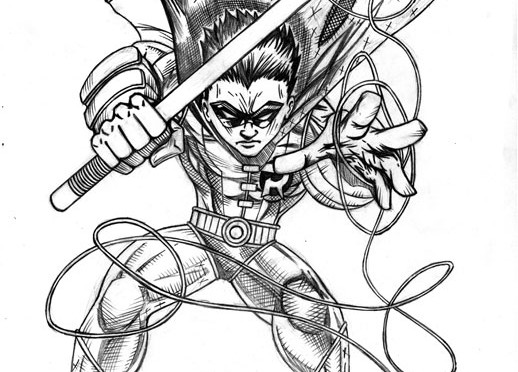 Robin Finished Pencils